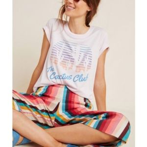 Anthropologie LetLuv Catcus Club Graphic Tee NWT M